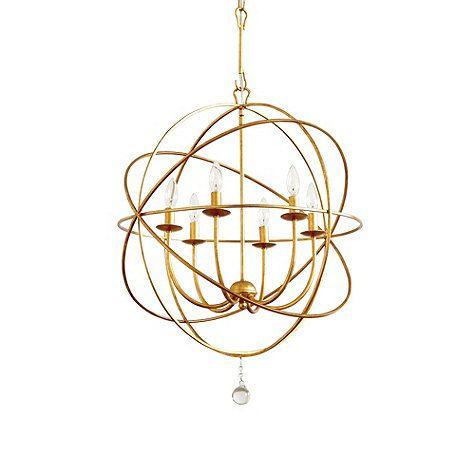 Gold orb chandelier