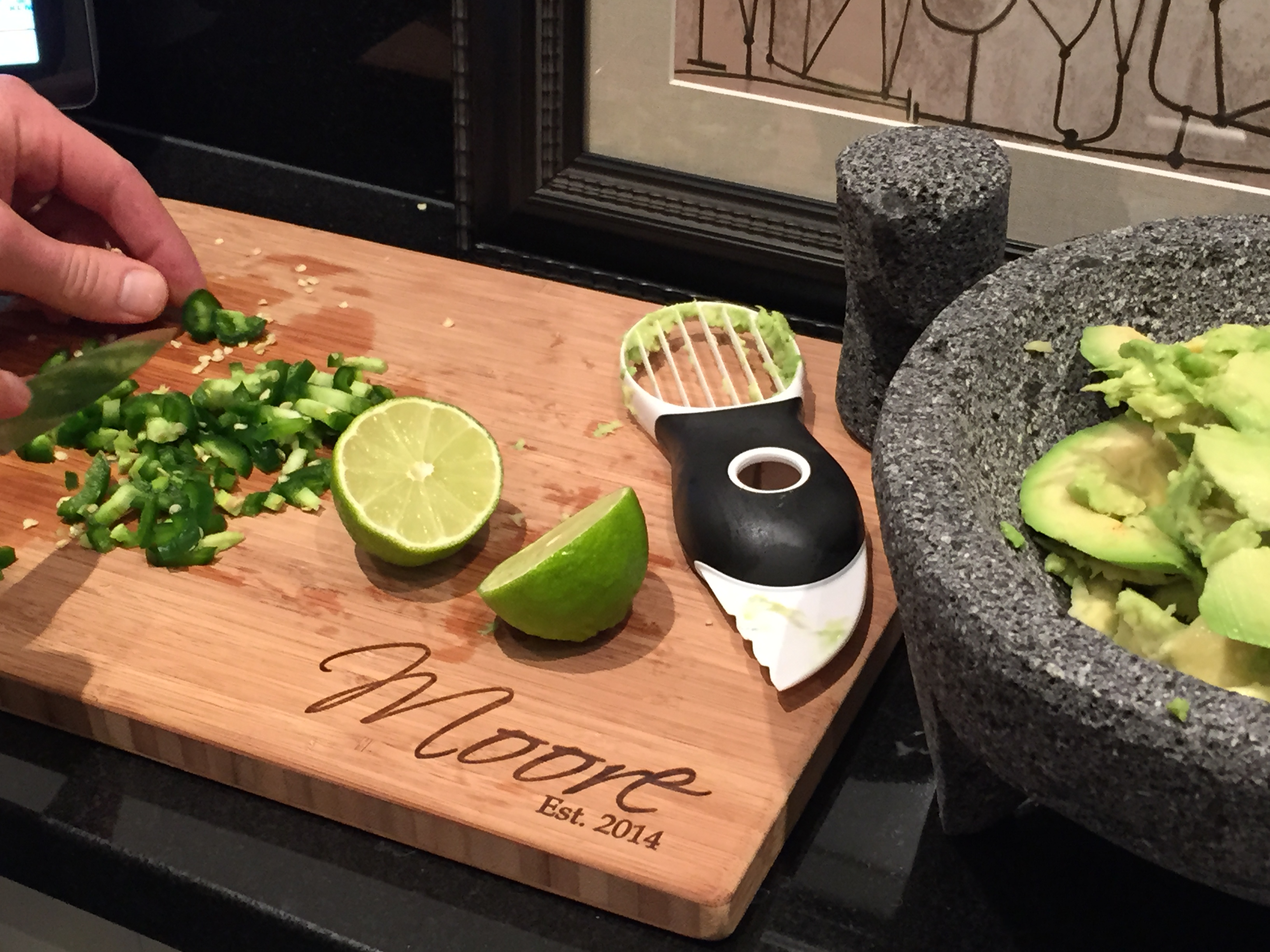 Avocado with Molcajete