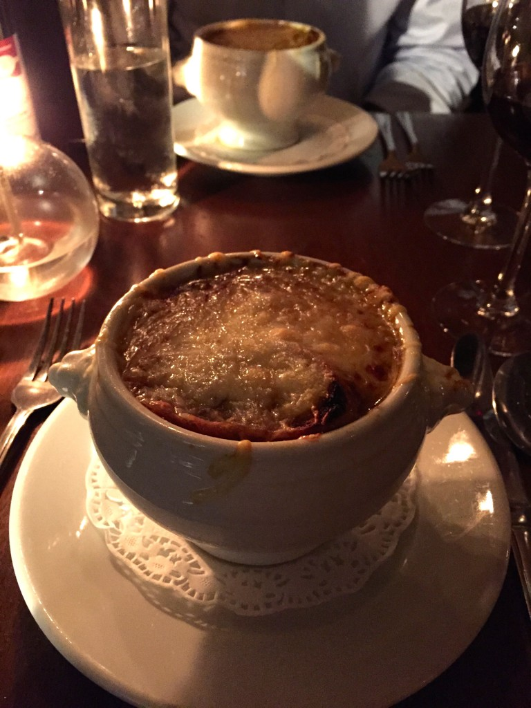 Modern Pineapple French Onion Soup