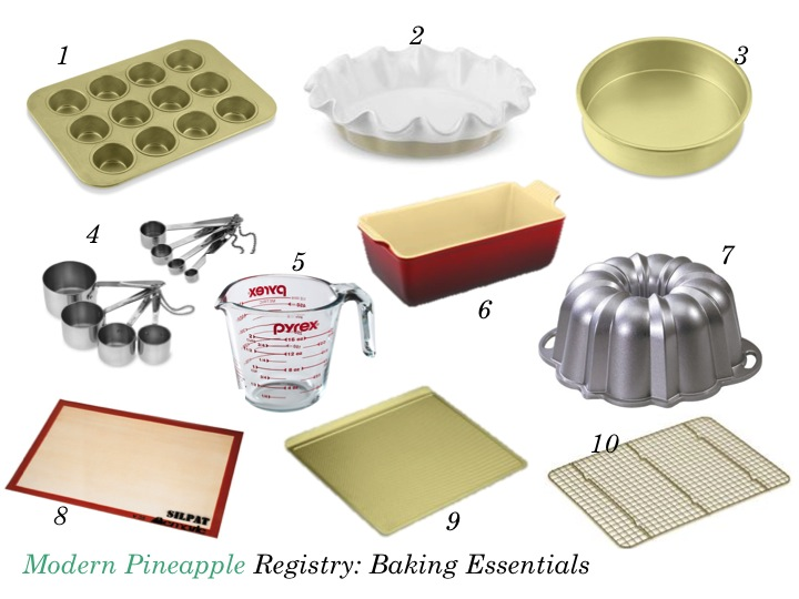 Modern Pineapple Registry Baking Essentials