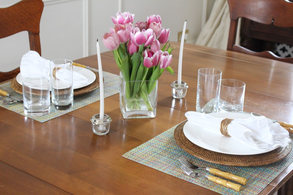 Modern Pineapple Spring Table Setting